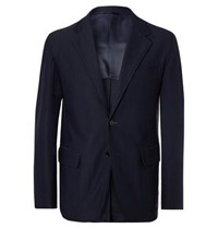 Camoshita Navy Slim Fit Twill Suit Jacket Navy