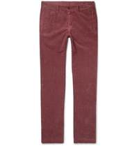 Massimo Alba Cotton Corduroy Trousers Red