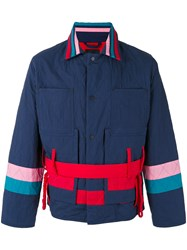 Craig Green Diamond Quilt Jacket Blue