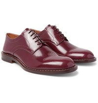 Maison Martin Margiela Polished Leather Derby Shoes Burgundy