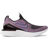Nike Running Epic Phantom React Flyknit Slip On Running Sneakers Purple