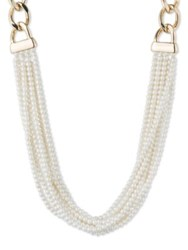Anne Klein Faux Pearl Multi Row Necklace