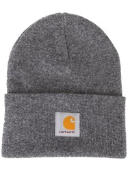 Carhartt Logo Patch Beanie Grey