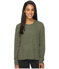 Alo Yoga Glimpse Long Sleeve Top Jungle Heather Women's Clothing Olive