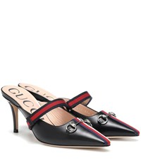 Gucci Leather Mules Black