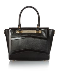 Juno Black Lizard E W Tote Bag Black