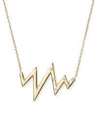 Kc Designs Heartbeat Pendant Necklace With Diamond Accent In 14K Yellow Gold .05 Ct. T.W. White Gold