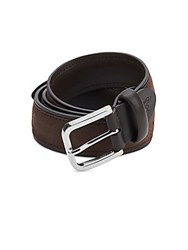 Canali Suede Leather Belt Imperial Purple