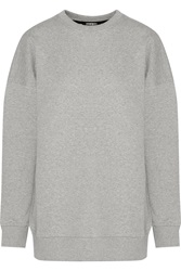 Markus Lupfer Keely Paneled Cotton Jersey And Fil Coupe Sweatshirt Gray