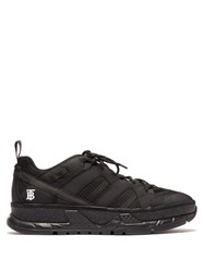 Burberry Rs5 Low Top Mesh And Nubuck Trainers Black