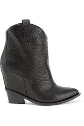 Giuseppe Zanotti Croc Effect Leather Ankle Boots Black