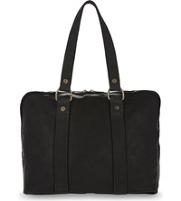 Guidi Small Horse Leather Holdall Black
