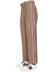 Valentino 20.5 Cm Wool Mohair Pants W Side Band