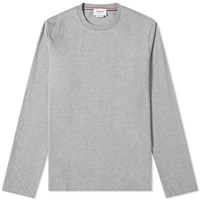 Thom Browne Classic Long Sleeved Tee Grey
