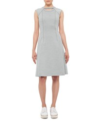 Akris Punto Cutout Cap Sleeve Jersey Dress Sail