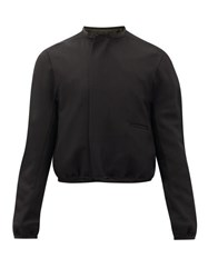 Haider Ackermann Panelled Wool Crepe Short Jacket Black