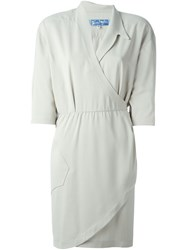 Thierry Mugler Vintage Wrap Dress Grey