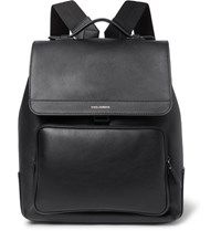 Dolce And Gabbana Leather Backpack Black