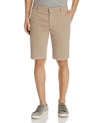 Ag Jeans Twill Tailored Fit Shorts Desert Taupe
