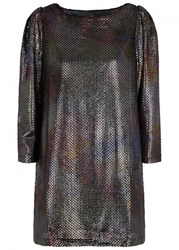 Free People Diamonds Are Forever Iridescent Dress Silver