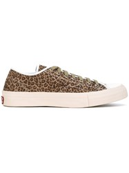 Visvim Leopard Print Sneakers Brown