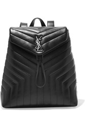 Saint Laurent Loulou Quilted Leather Backpack Black