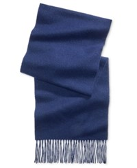 Club Room Men's Solid Cashmere Scarf Only At Macy's Navy