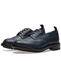 Tricker's End. X Commando Sole Bourton Brogue Blue