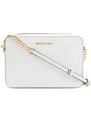 Michael Kors Collection Square Shoulder Bag White