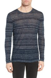 John Varvatos Men's Star Usa Two Tone Stripe Sweater