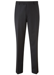 Austin Reed Plain Slim Fit Suit Trousers Black