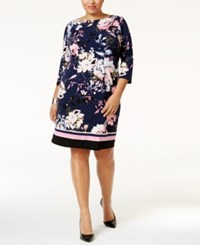 Inc International Concepts Plus Size Printed Sheath Dress Only At Macy's Spring Breeze