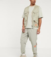 New Balance Utility Pack Woven Logo Utility Joggers In Beige Exclusive To Asos