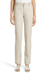 Lafayette 148 New York Women's Waxed Denim Slim Leg Jeans Quarry