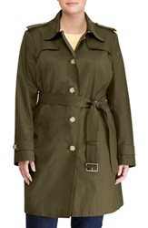 Lauren Ralph Lauren Plus Size Women's Trench Coat Loden