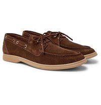 Brunello Cucinelli Suede Boat Shoes Brown