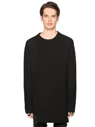 Diesel Black Gold Wool Blend Rib Knit Sweater
