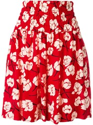 Rochas Floral Print Shorts Red