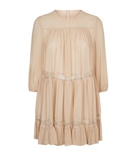 Max Mara Lace Crepe Tunic Top Female Neutral