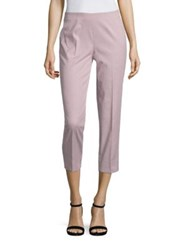 Piazza Sempione Striped Cotton Pants Plum