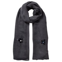 East Embroidered Floral Scarf Slate