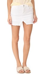 Blank Denim Cutoff Skort White
