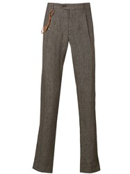 Berwich Straight Cut Trousers Brown