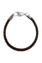 Guess Tough Leather Bracelet Brown