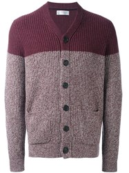 Brunello Cucinelli Two Tone Cardigan Pink And Purple