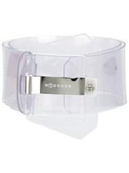 Maison Martin Margiela Transparent Large Buckle Belt Nude Neutrals