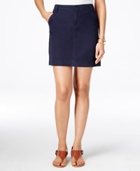 Tommy Hilfiger Chino Mini Skirt Navy