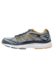 Salomon Xtour 2 Lightweight Running Shoes Light Onix Slate Blue Yellow Gold Grey