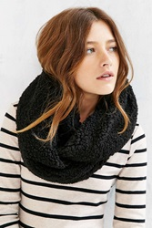 Urban Outfitters Sherpa Eternity Scarf Black Multi