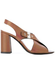 Premiata Chunky High Heel Sandals Brown